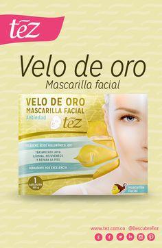 Velo de oro, mascarilla facial antiedad y con múltiples beneficios. http://www.tezboutique.com/velos-faciales/velo-de-oro/