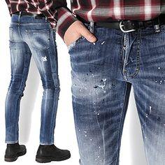 Denim Jeans Men, Jeans Pants, Formal Dresses For Men, Denim Art, Jeans Style, Dsquared2, Skinny Jeans, Mens Fashion, Outfits