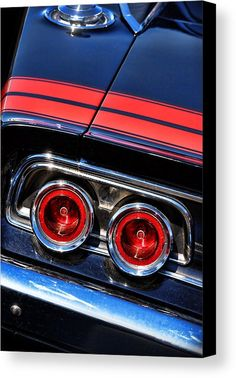 1968 Canvas Print featuring the photograph 1968 Dodge Charger R/t Tail Lights by Gordon Dean II