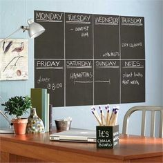 We think these slate gray chalkboard panels are brilliant! Use inside a kitchen cupboard, a kid's locker, on the fridge, or even right on the wall. Panels are repositionable, removable and won't harm most wall coverings. Chalk is included so you can start Cool Office Gadgets, Chalkboard Contact Paper, Kids Locker, Magnetic Paint, Magnetic Boards, Do It Yourself Inspiration, Paper Source, Blackboards, Homes