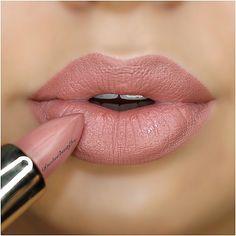 Nude Pink lipstick - @carolinebeautyinc