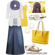 Blueberry Lemonade - The Modest Mom by deborah-and-co on Polyvore featuring maurices, BKE, Clarks, Dana Buchman, Dorothy Perkins, Monday, INC International Concepts, Modest, DenimStyle and springsummer2015
