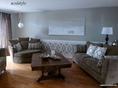 Custom cut PVC wainscoting from Soulstyle