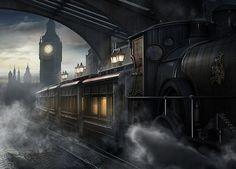 Train station, Eve Berthelette on ArtStation at https://www.artstation.com/artwork/train-station-b2e69c1e-ea82-426d-8dc8-59b8c13ecd30