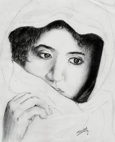 Incomplete beauty, pencil drawing