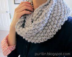 Purllin: December Seed Stitch Infinity Circle Scarf [ free knitting pattern ]