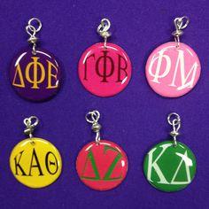 Sorority Greek Letter Charms - Kappa Delta, Delta Phi Epsilon, Phi Mu, Gamma Phi Beta, Delta Zeta, Kappa Alpha Theta by AnnPedenJewelry on Etsy