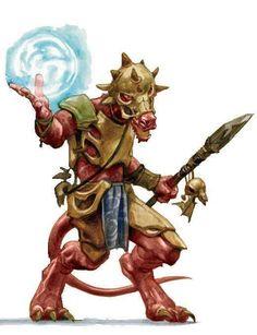 Gungreen - Red Kobold Sorcerer - Kobold Rojo Hechicero