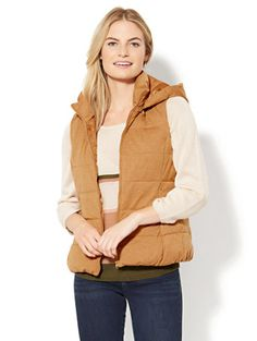 Shop Quilted Knit Puffer Vest. Find your perfect size online at the best price at New York & Company.