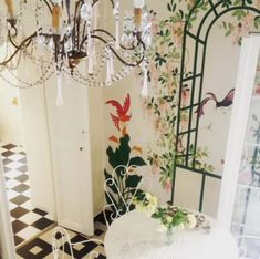 Charming Apartment with a sea view for rent In Old Nice. The apartment lies in a charming old building in Nice in the heart of the Old Town, two minutes from the beach and just off the flower market. It is filled with french charming details and decoration. #interior #france #Nice #oldtown #seaview #decor #chandelier #wallpainting #antique #french #vieuxnice #travel #visitfrance #riviera#travel #visitfrance #FrenchRiviera  #CotedAzur #CoursSaleya French Apartment, Visit France, Nice France, Cool Apartments, Old Building, Flower Market, Old Town, Old Things, Chandelier