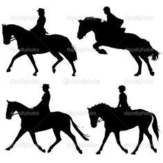 Sillouette horses