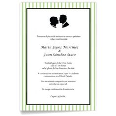 Invitaciones de boda Novios