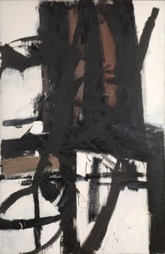 Franz Kline (American, 1910-1962), Bridge, c. 1955. Oil on canvas, 208.3 x 138.4 cm.