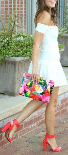 Whites Brights Cute Summer Outfits The Fashion: Gorgeous dress black fur Summer outfits Teen fashion Cute Dress! Clothes Casual Outift for • teenes • movies • girls • women •. summer • fall • spring • winter • outfit ideas • dates • school • parties mint cute sexy ethnic skirt