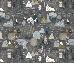 Items similar to Forest Adventure Map Fabric by the Yard Baby Boy Fabric Organic Cotton Fabric Gray Minky Jersey Knit Kids Fabric 6096792 on Etsy Map Fabric, Drapery Fabric, Fleece Fabric, Quilting Fabric, Curtains, Nursing Pillow, Custom Fabric, Fabric Crafts, Spoonflower