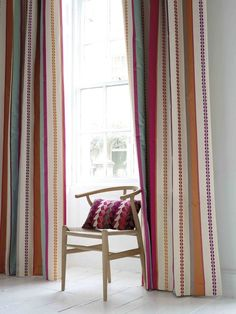 Folium Stripe in situ Fabric Wallpaper, Outdoor Fabric, Wall Colors, Affordable Fashion, Home Accessories, Nova, Upholstery, Villa, Cushions