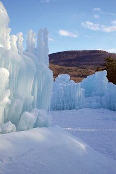 Ice Castle in Lincoln, New Hampshire.