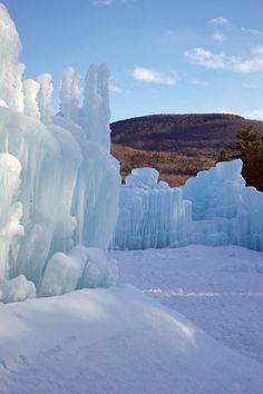 Ice Castle in Lincoln, New Hampshire.