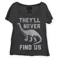 Never Find Us Tee Womens Black