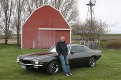 A boy & his car.