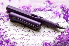 What a fountain pen! I want this Lamy Dark Lilac Safari and ink.