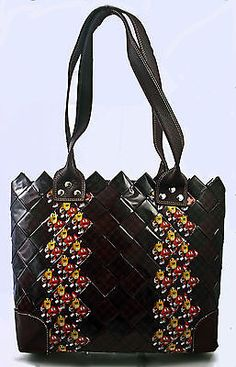 M M Tote Candy Wrapper Brown M M Purse Candy Purse M M Gum Wrapper Bag Eco | eBay