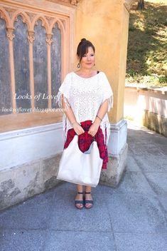 Sommer Look Outfit mit Poncho zum Sommerkleid