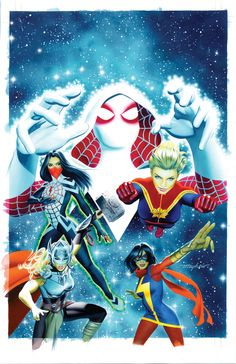 SECRET WARS #1 Space Cadets Variant Cover Painting by Mike Mayhew