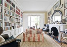 Cosy sitting room in Kensington. Reminds me of John Soane's house somehow.