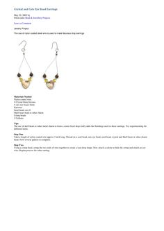 crystal and cats eye earrings tutorial