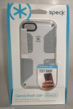 #ONSALENOW - Speck CandyShell Grip Case For Apple iPhone 5C (White/Grey)