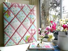 Patchwork Fabric Noticeboard....by Max's Boardroom at TheDesignBasket.com