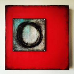 """Whole and feeling"" 12x12 encaustic   #victoriabccanada"