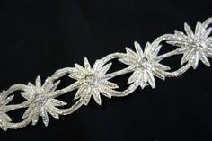 Silver Handmade Trim with 3D floral Cut Work by ColourCocoon