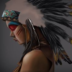 American Indian Girl, Indian Girls, American Indians, Finding Neverland, Bikinis, Swimwear, Sunglasses, Artwork, Art Illustrations