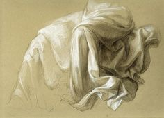 Drawing-Charcoal-Helen Uger: Drapery Study