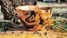 Woodturning a bowl from olive wood root !!! Ξυλοτορνος - κατασκευη μπολ ...