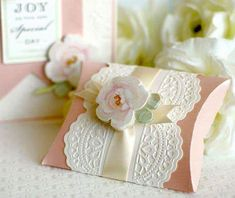 in the Making: Wedding Card & Pillow Box Wedding card pillow card pillow Cricut Wedding, Wedding Cards, Cricut Explore Projects, Diy And Crafts, Paper Crafts, Gift Wraping, Anna Griffin Cards, Pretty Box, Pillow Box