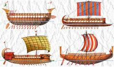 Types of Phoenician ships, circa 600 BCE