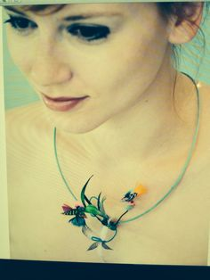 #feathers#necklace#cecile boccara