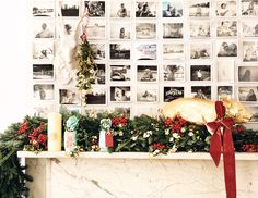 There's nothing like photos to tell a story. holiday mantel decorating ideas on domino.com
