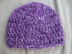 Baby  Crochet  Hat in Purple Mist by AngieHallHaviland on Etsy, $9.00