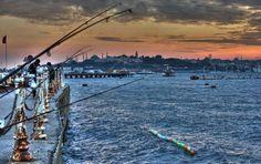 Rastgele ....Istanbul da balık avı