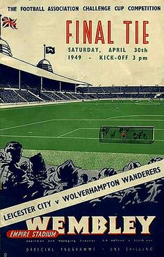 PROGRAMME FA-CUP FINALE 1949 Wolves v Leicester