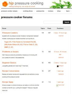 Pressure Cooker Forums - get answers, recipes, support & more!