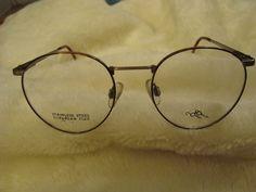 fc9d0a0321 Vintage Otego Optical Eyeglasses Frame Demi Amber Antique Pewter 49-18-135   OtegoOptical