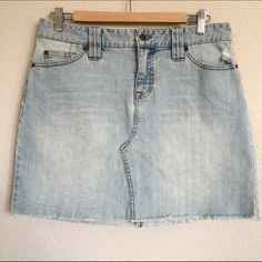 """White-Washed Denim Skirt 