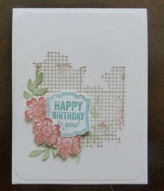 Stampin' Up! Stippled Blossoms, Off the Grid, and Label Love - Dale Morin, Stampin' Up! Demo