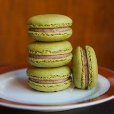 Green Tea Macarons with Red BeanButtercream