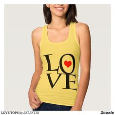 LOVE TOPS JERSEY RACERBACK TANK TOP